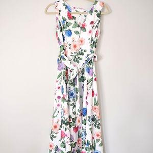 Calvin Klein Floral Print Sleeveless Dress